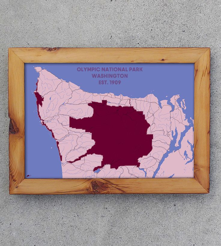 Olympic National Park Map Print |  Posters