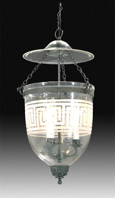19th Century reproduction Hall Lantern with Greek Key,the lantern haves a candle cup in the bottom and by removing the electrical wiring you can convert the hall lantern to wax candle