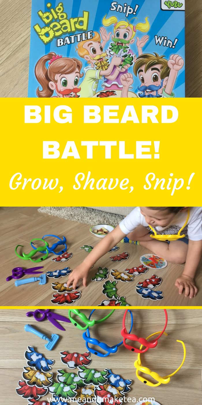 Today on the blog we review a new board game which is super silly –Big Beard Battle. The aim of the game is simple, grow your beard faster than your opponents. If you're looking for a rainy day activity then is is fun for all the family.