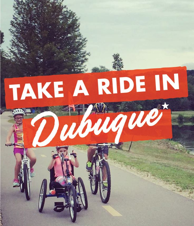 Nestled in the towering bluffs of the Mississippi River valley, Dubuque is home to a variety of both challenging and leisurely biking opportunities. Take a family ride downtown, train for the next big race, and get the adrenaline pumping on an off-road course. You are just moments away from a day of explorations via two-wheeled transportation.