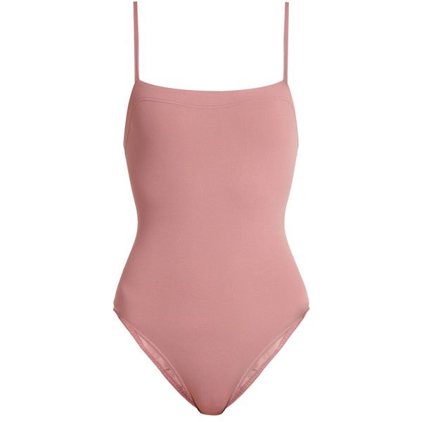 Eres Aquarelle swimsuit ($280) ❤ liked on Polyvore featuring swimwear, one-piece swimsuits, swimsuit, one piece, swim, pink, 1 piece swimsuit, swim suits, pink swimsuits and eres swimwear