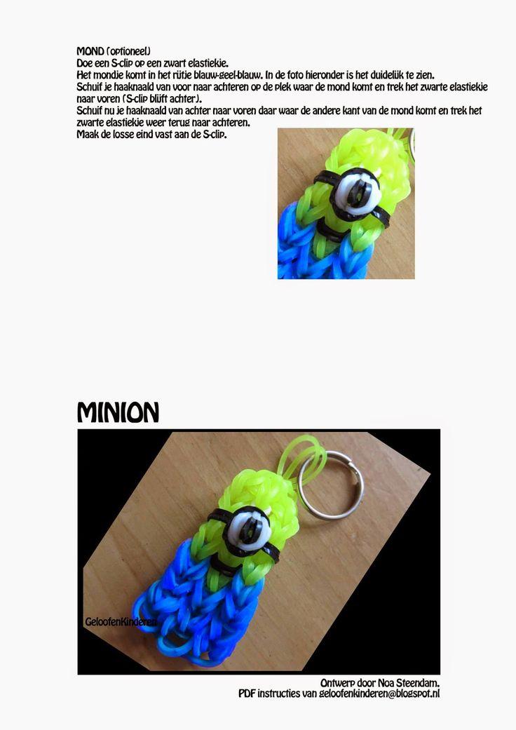 Kopje Thee(a): Rainbow Loom Minion PDF Instructies Nog meer printabare instructies voor de kids op vakantie. Deze is zo cute!