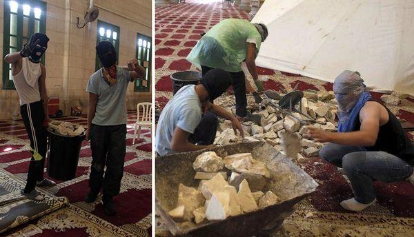 Nous contaminons nos mosquées avec nos propres mains et pieds, et ensuite nous blâmons les Juifs pour la profanation des lieux saints islamiques. Si quelqu'un est en train de profaner les lieux saints islamiques, ce sont ceux qui apportent les explosifs,...