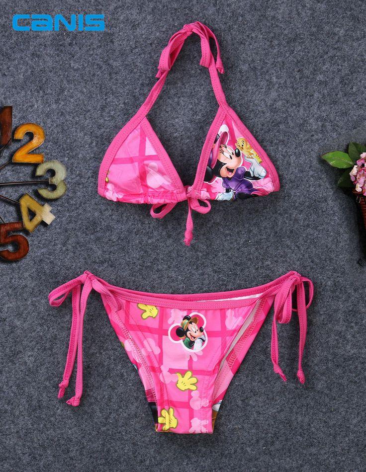 Bébé Infantile Maillots De Bain Maillot de Bain Bikini Maillot de Bain Deux Pièces de Bande Dessinée Costume Tankini Baigneurs Robe Beachwear Pour Les Filles Enfant Enfants