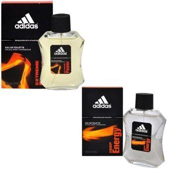 บอกต่อ  Adidas Extreme Power Adidas for men EDT 100 ml+Adidas Deep EnergyAdidas for men 100 ml พร้อมกล่อง  ราคาเพียง  600 บาท  เท่านั้น คุณสมบัติ มีดังนี้ กลิ่นหอมสดชื่น ติดทนนาน ใช้ได้ทุกโอกาส