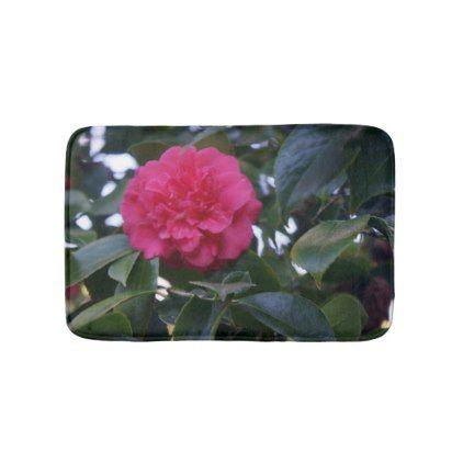Daikagura Red Camellia Bath Mat - flowers floral flower design unique style