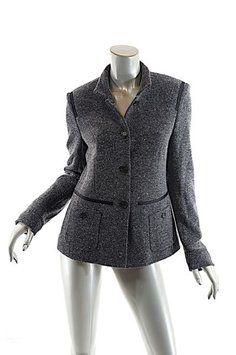 René Lezard Black tweed Blazer