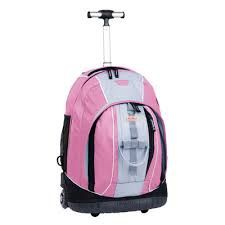 Very stylish pink and black girls rolling backpack - Google Search