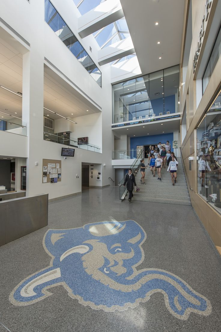 Tufts University's Jumbo located in the entry of the Steve Tisch Sports & Fitness Center.