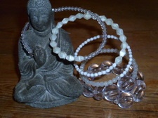 White linen memory bracelet  see - http://undertherowantree.bigcartel.com/