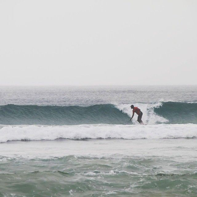 His first time in a wetsuit in Australian winters. Surfing down under. #GrabYourDream #Australia #GoldCoast #surfing #adventure #travel #winters