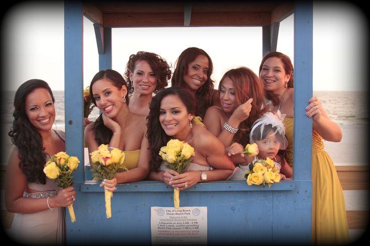 Bridesmaids at the Beach