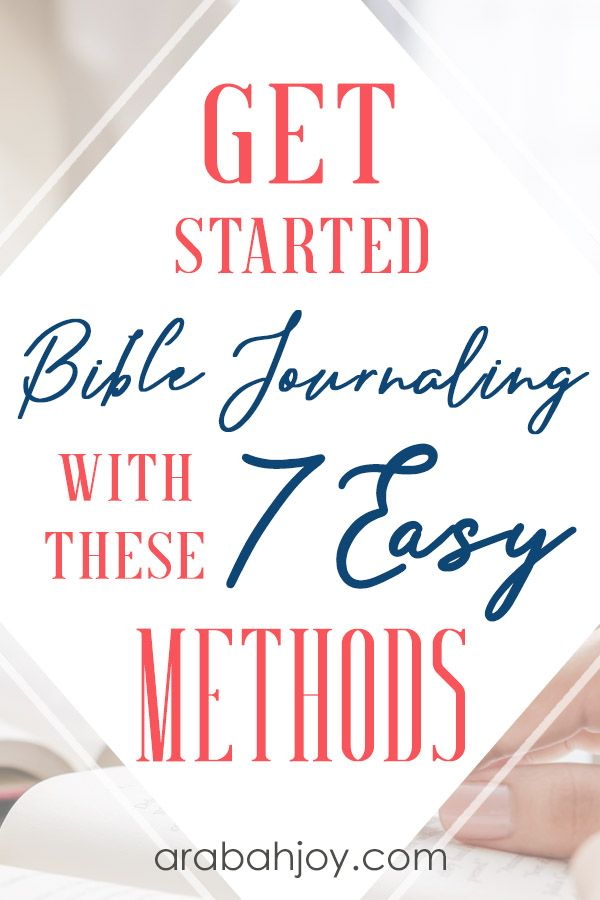 7 Simple Bible Journaling Methods for Beginners | Faith
