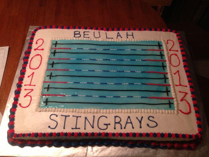 Swim team banquet cake.