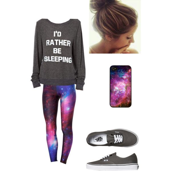 """Dream Clothes"" by gracie2018 on Polyvore I love the galaxy print!!"