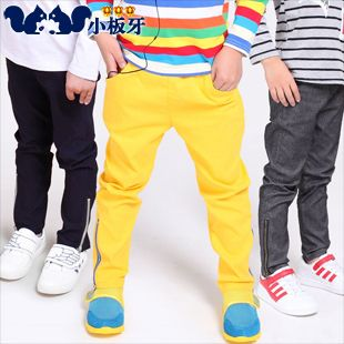 2013 autumn korean version of the new childrens clothing zipper baby boy casual pants long trousers 6629 only $10.14USD a Piece