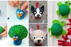 12 bricolages pour les enfants à faire avec des coquillages!
