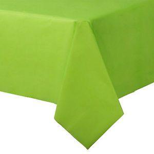Stor lime grøn plast dug til dit festbord. Stort udvalg limegrøn engangsservice og festartikler.