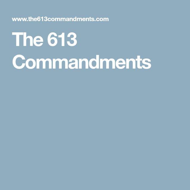 The 613 Commandments