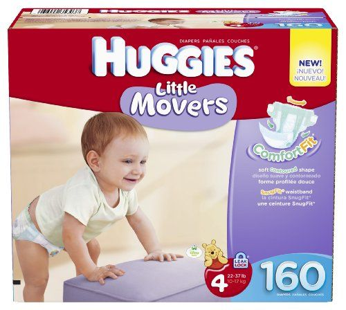 Huggies Little Movers Diapers Economy Plus, Size 4, 160 Count (packaging may vary) | Multi City Health  List Price: $56.74 Discount: $13.74 Sale Price: $43.00