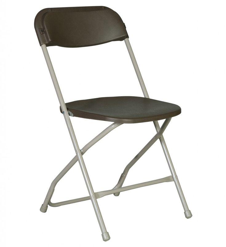 Bertolini Sanctuary Seating Plastic Folding Chair Brown