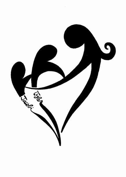 Custom Modern Heart Silhouette Family