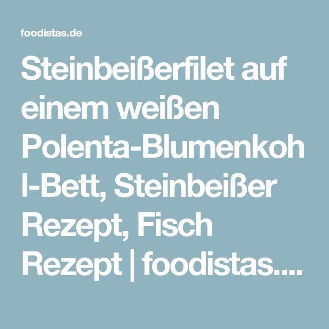 Steinbeißerfilet auf einem weißen Polenta-Blumenkohl-Bett, Steinbeißer Rezept, Fisch Rezept | foodistas.de