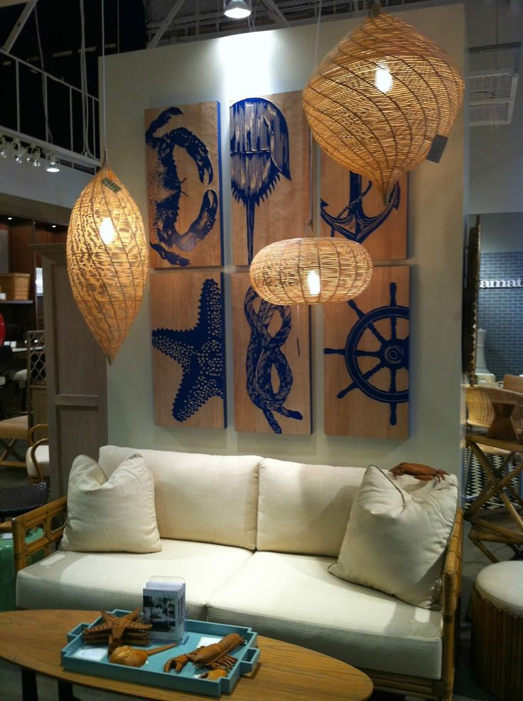 Everything Coastal....: Coastal Decorating Trend: Nautical Anchors and Rope Patterns