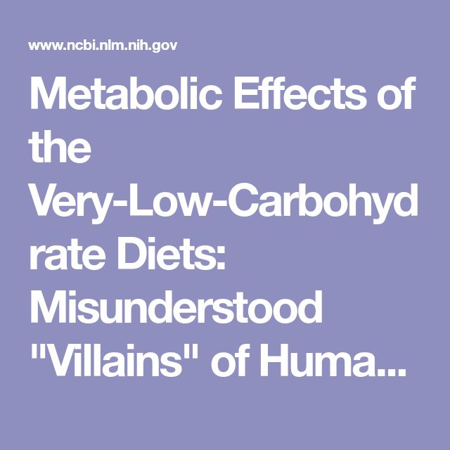 """Metabolic Effects of the Very-Low-Carbohydrate Diets: Misunderstood """"Villains"""" of Human Metabolism"""