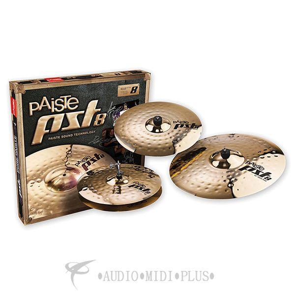 """Paiste 14""""/16""""/20"""" PST 8 Reflector Rock Cymbals Set - 180RSET-U"""