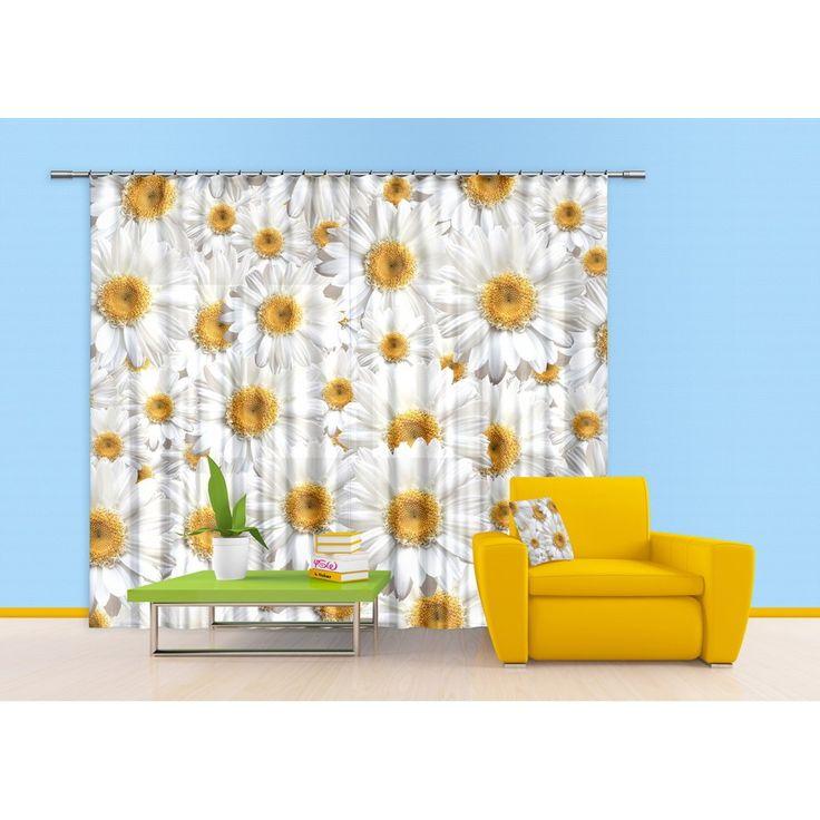 Kamillás függöny #függöny #margaréta #virág #kamilla #lakberendezés