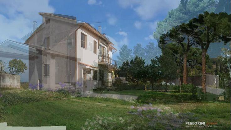 Nuova sala multimediale con videoproiezione 4K progetto giardino 3D