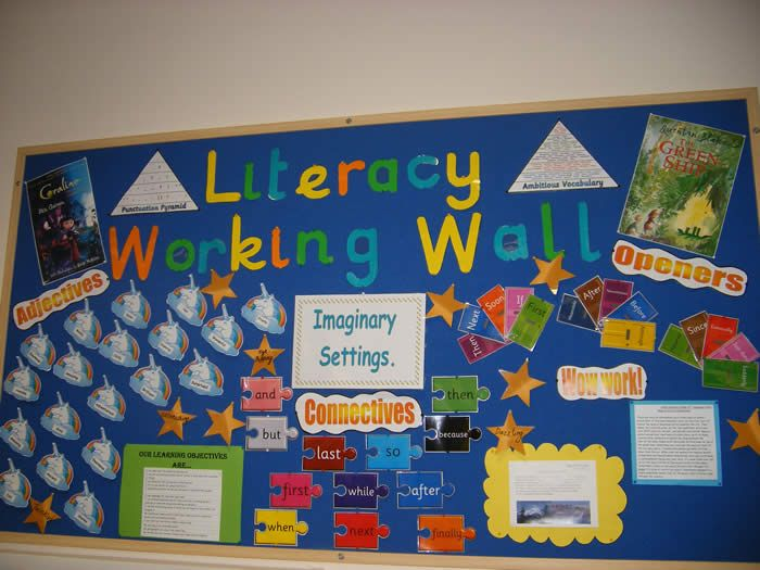 Literacy Working Wall Classroom Display   Great Inspiration For Primary  School, Displays.