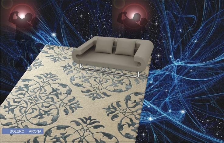 Alfombra moderna bolero arona esta alfombra tiene fondo for Alfombras dibujos geometricos