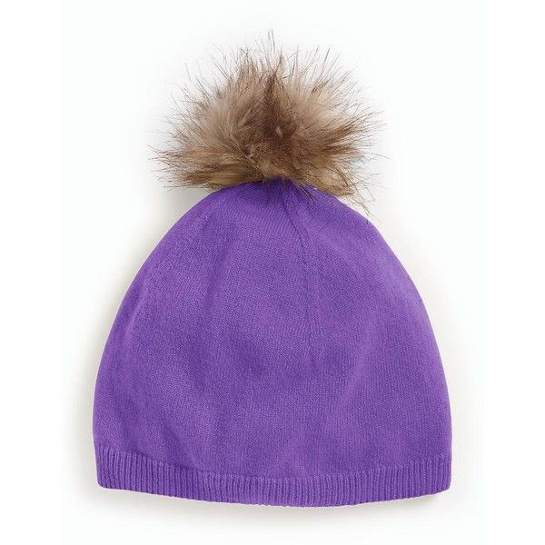 Talbots Women's Cashmere Faux Fur Pom Pom Hat ($70) ❤ liked on Polyvore featuring accessories, hats, pom pom hat, fake fur hats, faux fur hat, cashmere hat and talbots