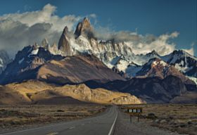the road to Fitz Roy - stock photo