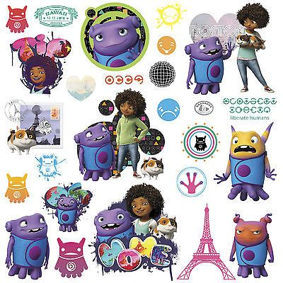 Dreamworks HOME Movie Wall Decals Poster Oh & Tip Boov ...