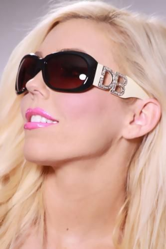 Black Beige Two Tone Lego Med Tint Sunglasses