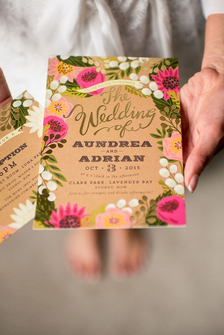 Awesome 34 Beautiful Floral Wedding Invitation Ideas https://bitecloth.com/2017/07/18/34-beautiful-floral-wedding-invitation-ideas/
