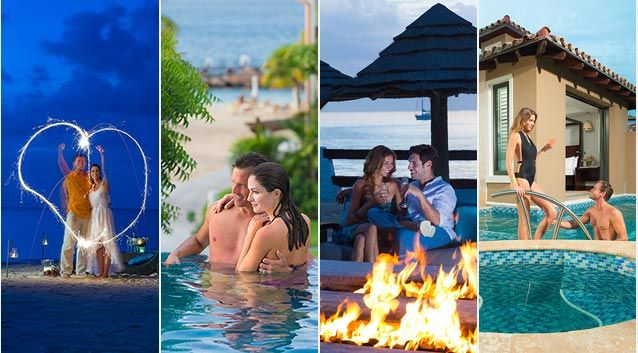Sandals' all inclusive Caribbean vacation packages and resorts in Saint Lucia, Jamaica, Antigua & the Bahamas feature gorgeous tropical settings for couples in love. Experience the perfect Jamaica, Antigua, Bahamas or Saint Lucia all inclusive vacation, luxury weddings, or honeymoons.