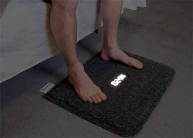 Carpet alarm clock - you have to get out of bed and stand on it to turn it off.  I should probably get one, but then I'd have to get out of bed to turn it off...