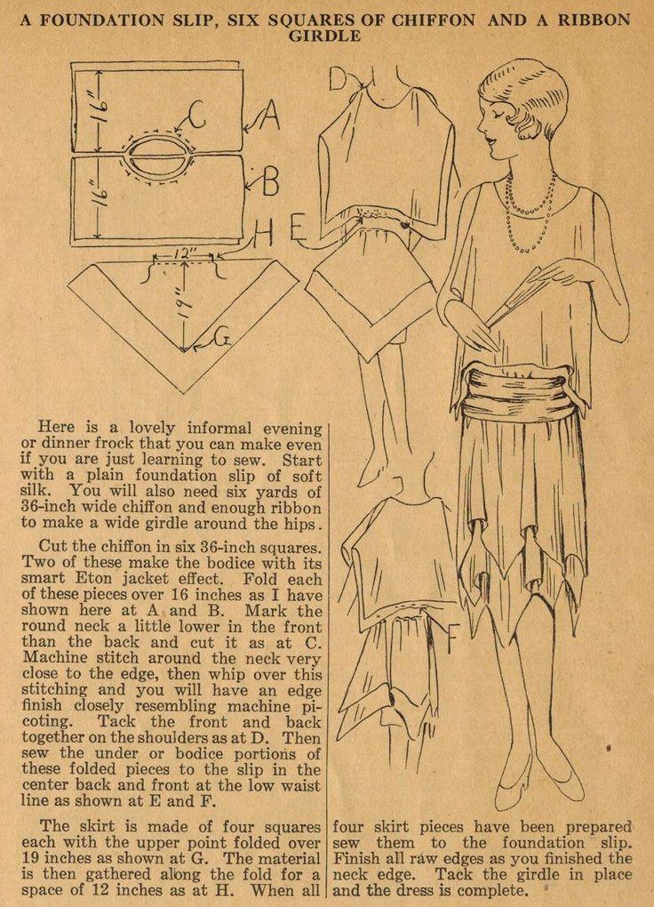 42 besten 1920 Bilder auf Pinterest   Schnittmuster, 20er jahre und ...
