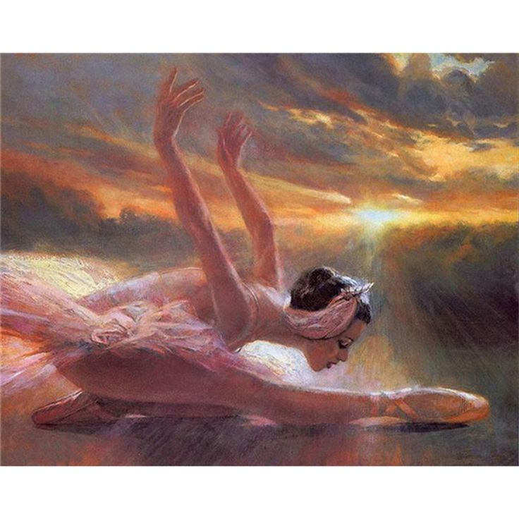 Diamond Embroidery Paintings Rhinestone Pasted diy Diamond painting Free Shipping printed classic seaside ballet dancer A5382R #Affiliate