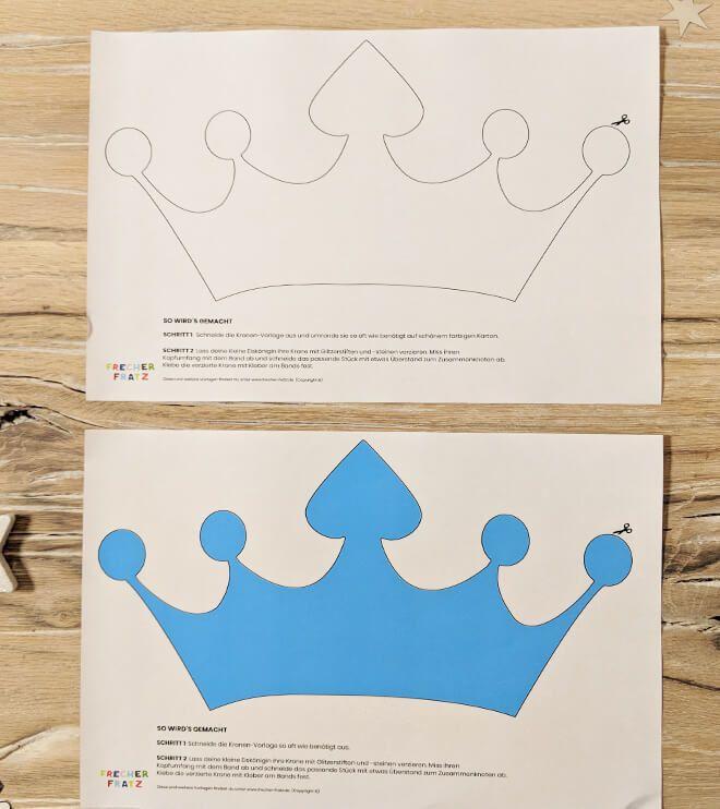 Bastelvorlage Fur Eine Schone Eiskonigin Krone Zum Ausdrucken Uns Ausschneiden Lad Kindergeburtstag Basteln Eiskonigin Kindergeburtstag Basteln Bastelvorlagen