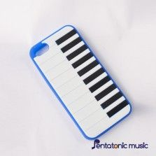 Piano Silicon Cover for iPhone 5/5s - Blue