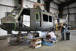 A group of around 20 veterans have volunteered their time to rebuild a UH-1D Iroquois helicopter, better known as a Huey, at the Monmouth Executive Airport in Wall Township for the Vietnam Era Museum in Holmdel.