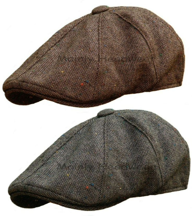 STETSON Tweed Mens GATSBY Cap Newsboy IVY hat Golf wool driving flat m l xl #Stetson #NewsboyIvy