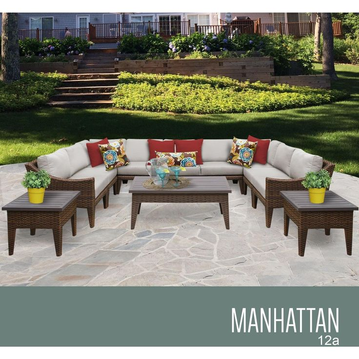 Manhattan 12 Piece Outdoor Wicker Patio Furniture Set 12a