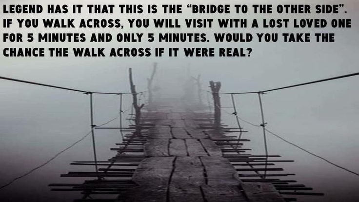 Would you be willing to walk across this bridge?