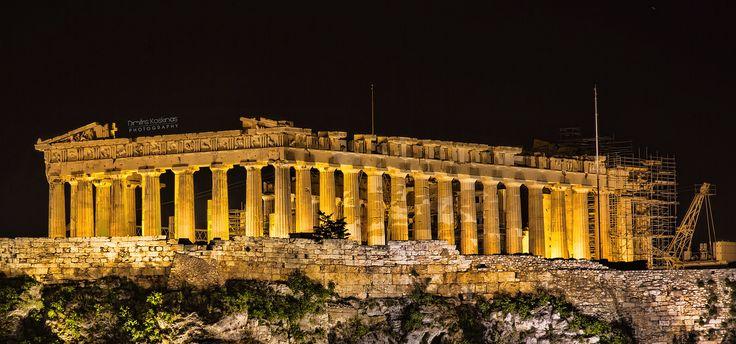 Acropolis of Athens at night by Dimitris Koskinas on 500px